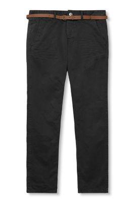 Chino en coton à ceinture