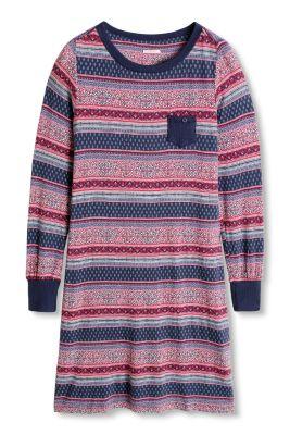 Chemise de nuit à motifs, jersey/stretch