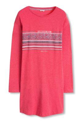 Chemise de nuit en doux jersey à rayure