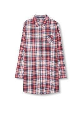 Chemise de nuit en flanelle 100 % coton