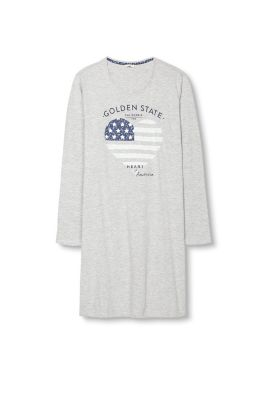 Chemise de nuit, jersey de coton mélangé