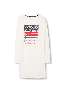 Chemise de nuit jersey flammé 100% coton