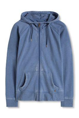 Sweater à capuche sport, de finition usée