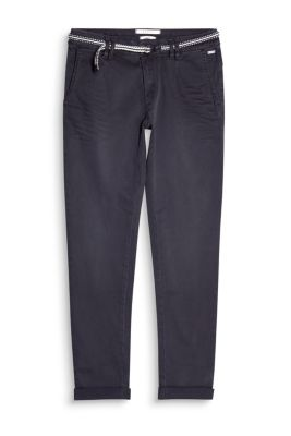 Chino à ceinture, coton stretch