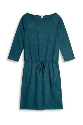 Robe texturée à effet cache-cœur