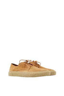 Chaussures à lacets en cuir velours doux