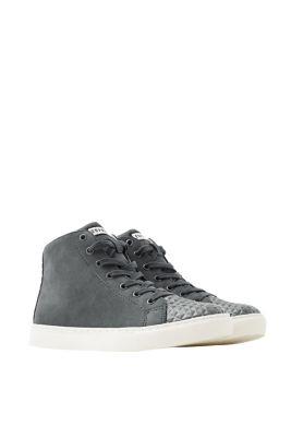 Sneakers montantes en similicuir