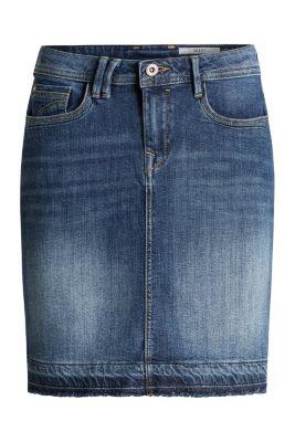 Jupe en jean à bordure contrastante