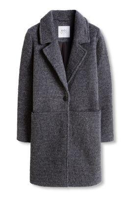 Manteau structuré à teneur en laine