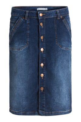 Jupe en jean boutonnée, stretch