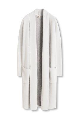 Manteau double face en maille de laine