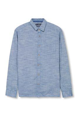 Chemise bicolore structurée 100 % coton