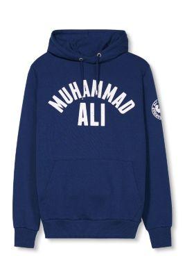 Sweater à capuche imprimé Mohammed Ali