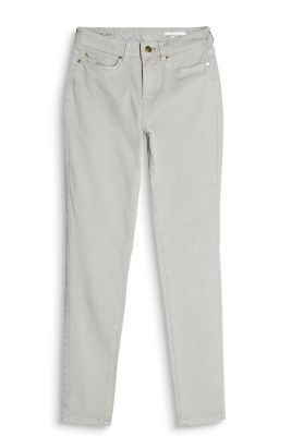 Basic broek van katoenstretch