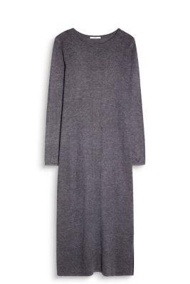 Douce robe mi-longue en fine maille