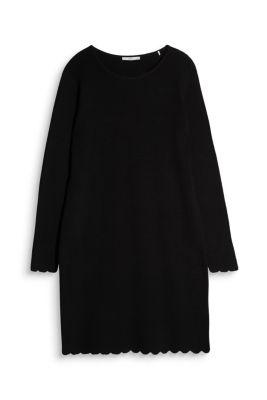 Mini-robe en maille, coton mélangé