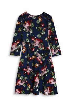 Robe à fleurs en jersey compact