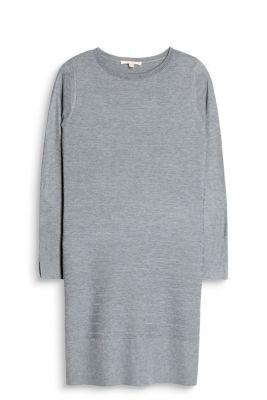 Robe-pull en maille côtelée