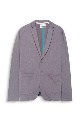 Blazer en jersey à effet flammé, 100 % coton