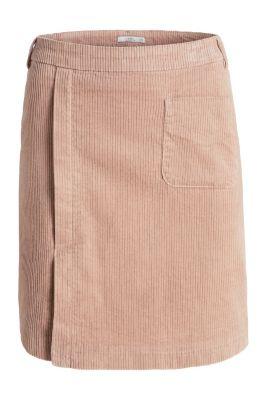 Jupe en velours côtelé, coton stretch