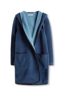 Manteau en feutre de laine bicolore