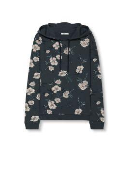 Sweater à capuche à fleurs, coton