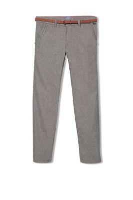 Chino en coton à ceinture en cuir