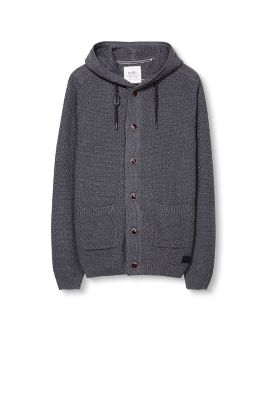 Cardigan grosse maille 100 % coton