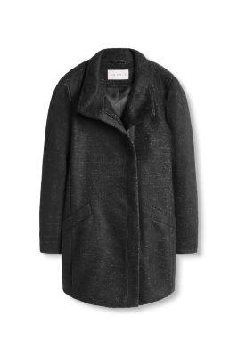 Manteau féminin en laine au look chiné
