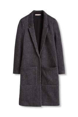Manteau à chevrons et bords bruts