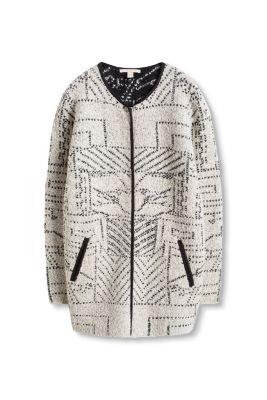 Manteau en maille à motif jacquard
