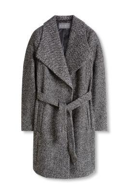 Manteau en tweed à col XL