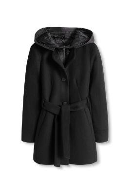 Manteau 2 en 1 en laine mélangée