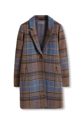 Manteau texturé à grands carreaux