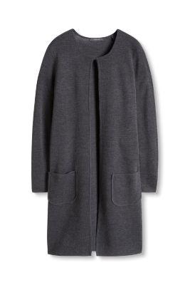 Manteau en fine maille de laine mélangée