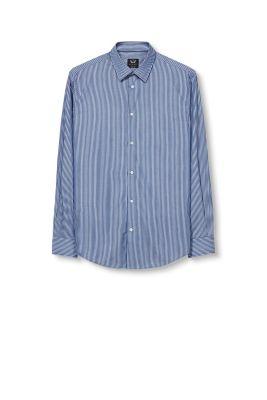 Chemise texturée en coton à rayures