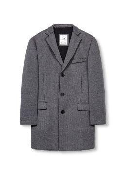 Manteau blazer à bords bruts