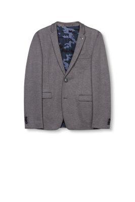 Blazer en jersey chiné doublure camouflage