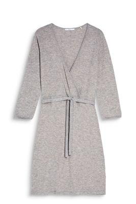 Robe cache-cœur à teneur en laine