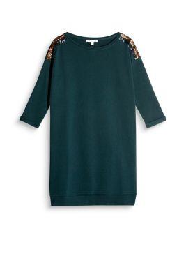 Robe molletonnée à paillettes, 100 % coton