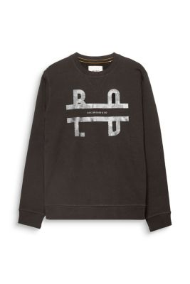 Sweat-shirt imprimé, 100 % coton