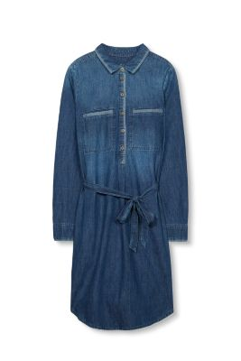 Robe-chemise denim, 100 % coton
