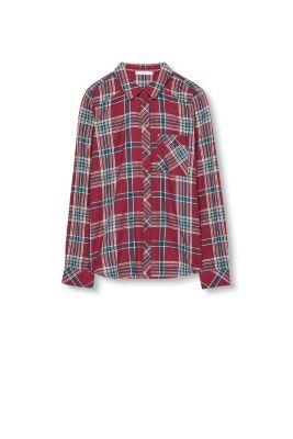 Chemise à carreaux tendance coton
