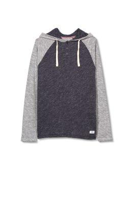 Sweater capuche en jersey de coton