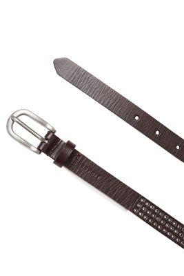 Fine ceinture en cuir, ?illets en métal