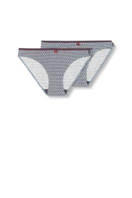 Esprit Twee slips van microvezels met print Grey Blue for Women
