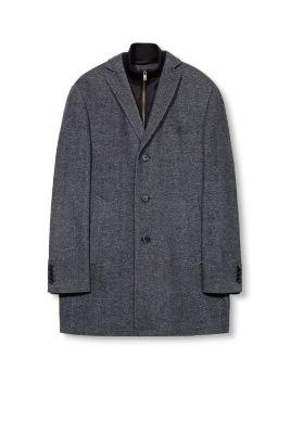 Manteau laine mélangée, chevrons