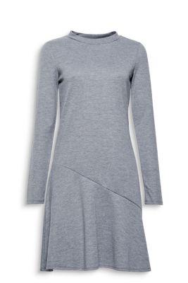 Robe chinée à base volantée, jersey