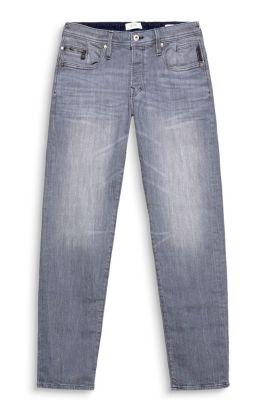 Washed jeans van katoenstretch
