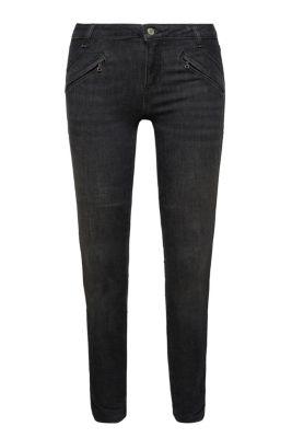 Shaping jeans met sierritsen
